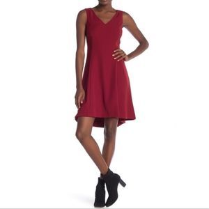 Theory Andrisa Fit & Flare V Neck Dress Size 8